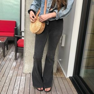 Free People Jeans - Free People Flare Jean in Charcoal
